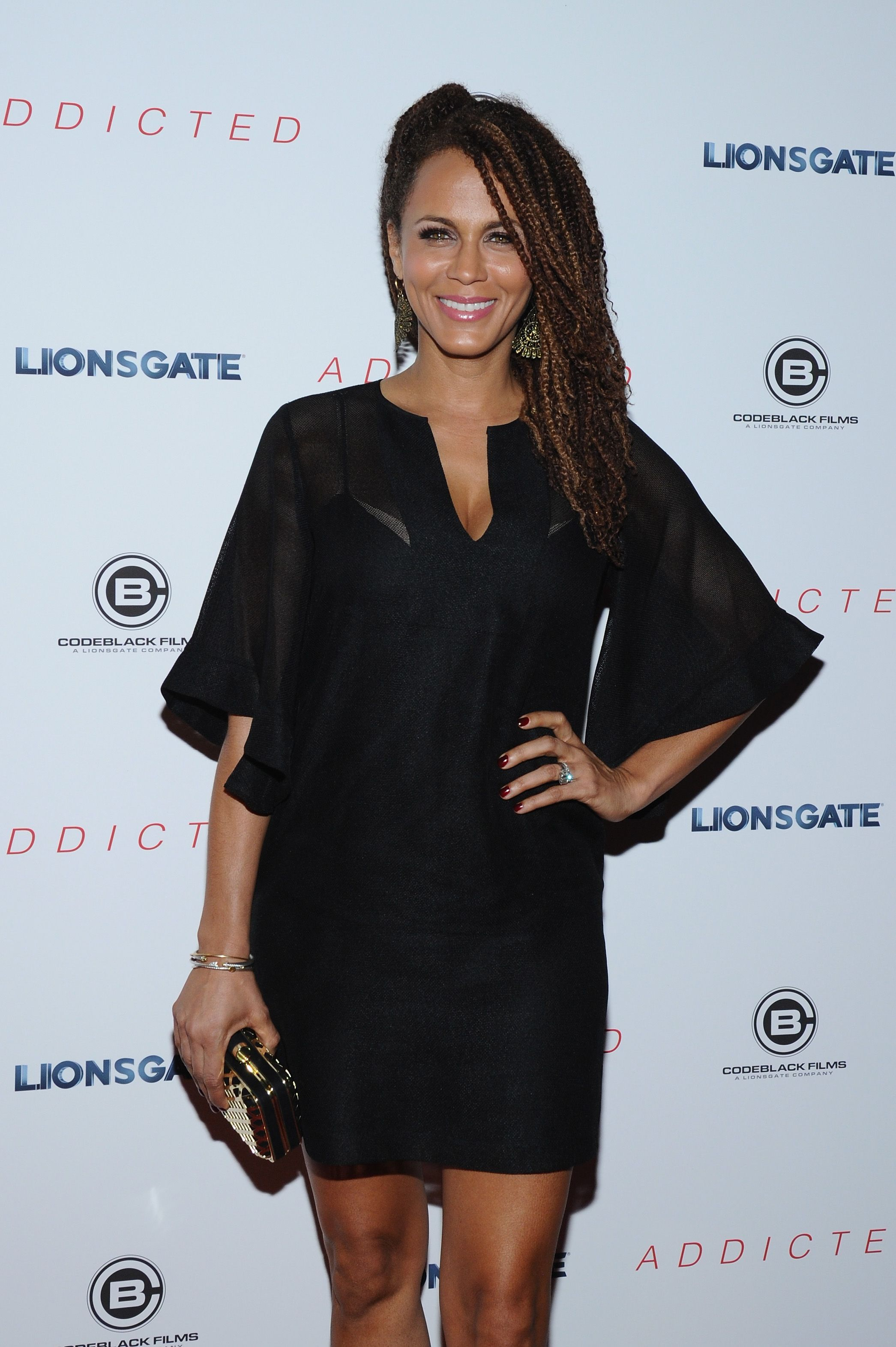"""Nicole Ari Parker attends the premiere of """"Addicted"""" on October 8, 2014 in New York. 