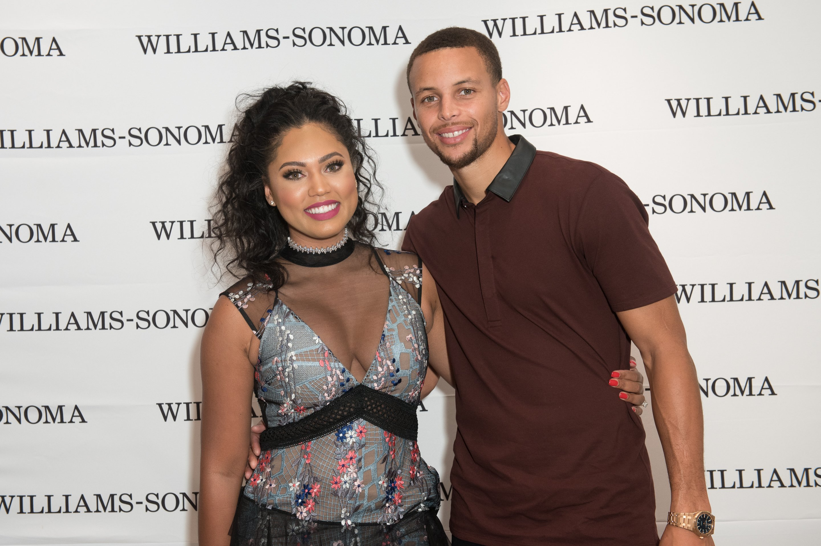 Ayesha Curry and Stephen Curry attend the Williams-Sonoma Ayesha Curry Book Signing at Williams-Sonoma Columbus Circle | Photo: Getty Images