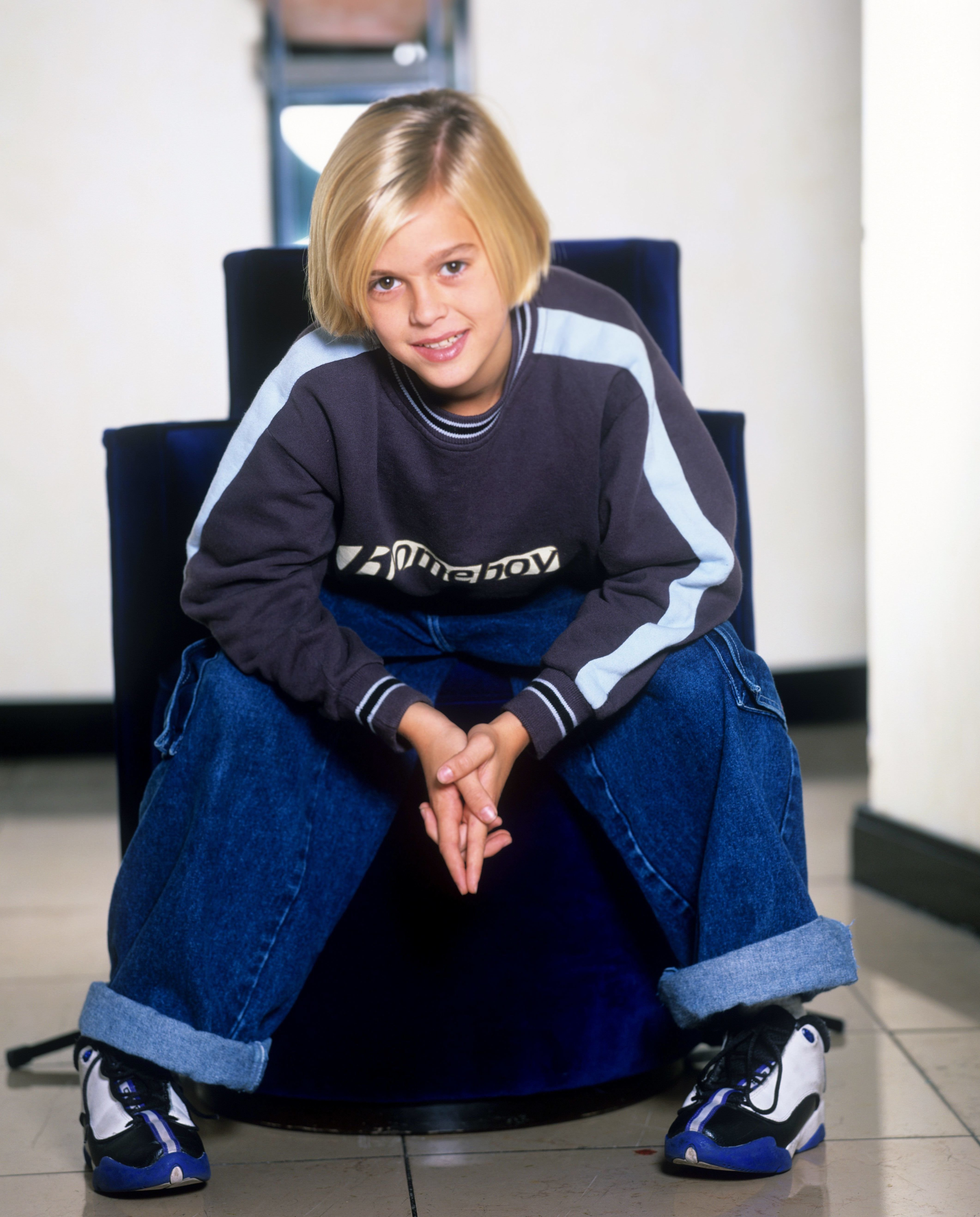 Eleven-year-old Aaron Carter at a photo shoot in 1998 in Cologne, Germany | Source: Getty Images