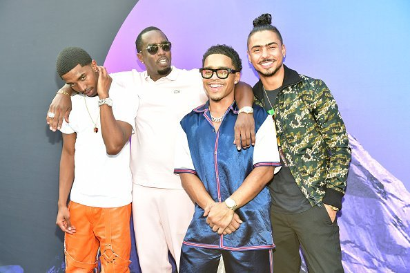 "Christian Combs, Sean ""Diddy"" Combs, Justin Combs, and Quincy at the REVOLT Summit x AT&T Summit on September 14, 2019 