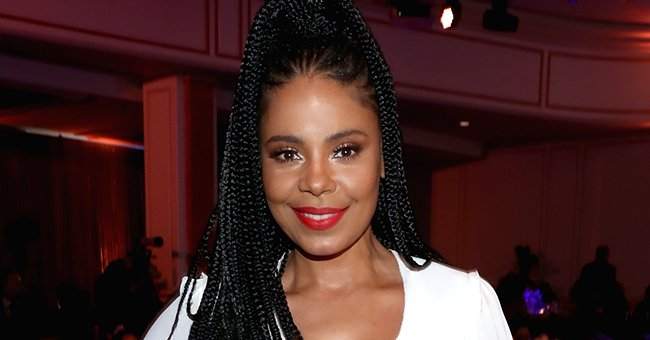 Check Out Sanaa Lathan's Long Legs in a Pair of Denim Shorts as She Rocks a Buzzed Head
