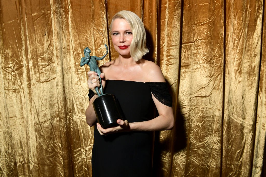 Michelle Williams, winner of the Outstanding Performance by a Female Actor in a Television Movie or Limited Series at the 26th Annual Screen ActorsGuild Awards on January 19, 2020.   Photo: Getty Images