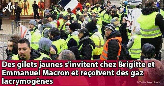 Gilets jaunes: rassemblés chez Brigitte et Emmanuel Macron au Touquet, ils reçoivent des gaz lacrymogènes