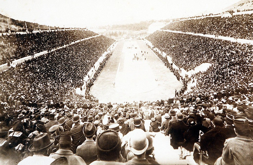 The first modern Olympic Games, held in Athens 1896 | Source: Getty Images