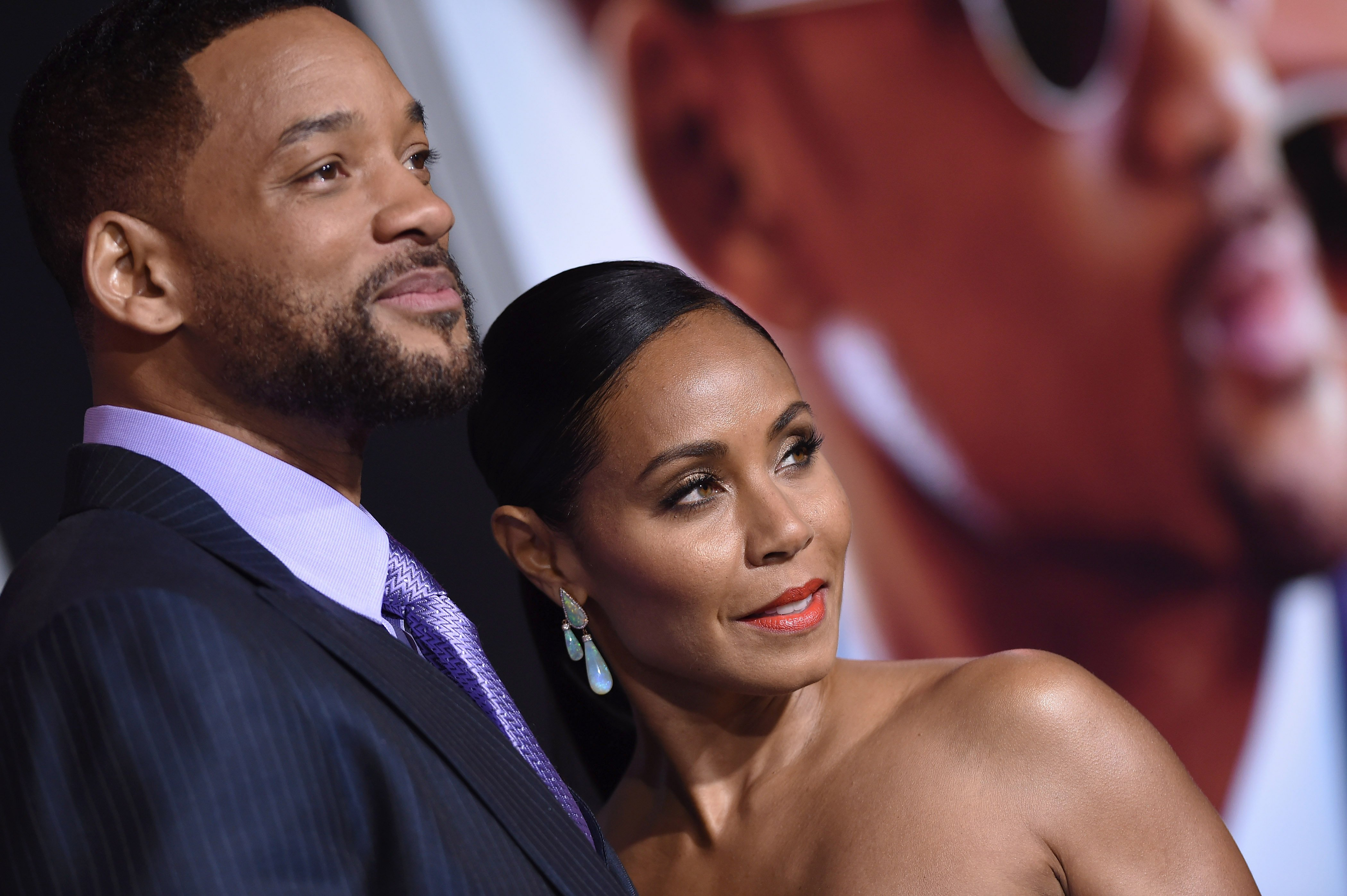 Actors Will Smith and Jada Pinkett Smith arrive at the Los Angeles World Premiere of Warner Bros. Pictures 'Focus' at TCL Chinese Theatre on February 24, 2015. | Photo: Getty Images