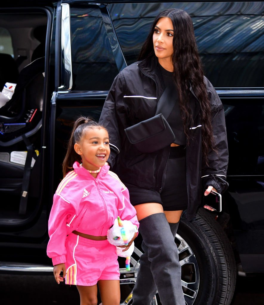 North West and Kim Kardashian seen on the streets of Manhattan in New York City | Photo: Getty Images