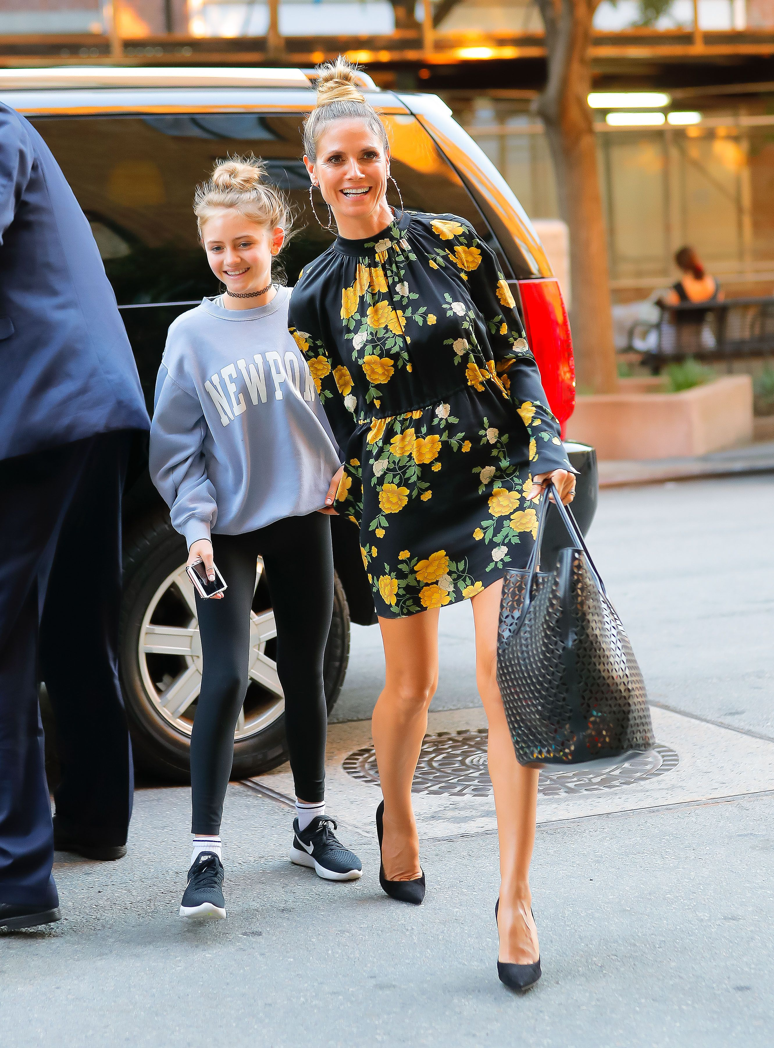 Heidi Klum and Leni in 2017 in New York City | Source: Getty Images