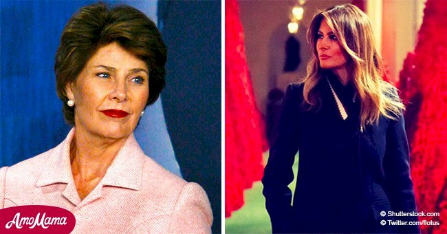 Melania Trump hosts Laura Bush for 'sweet visit' to 'Christmassy' White House amid Bush's death