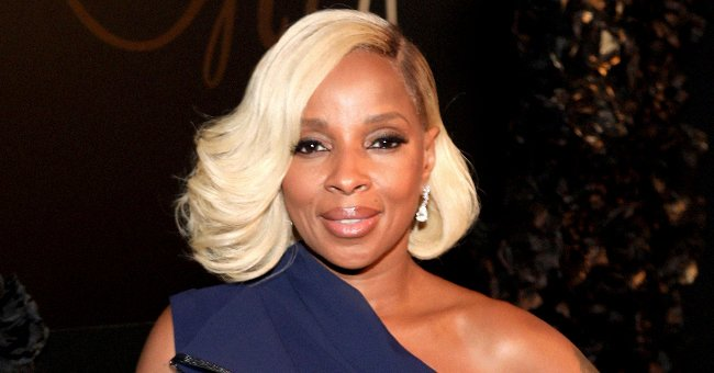 Mary J Blige, 50, Is a 'Sun Goddess' in Golden Dress with High Slit to Showcase Her Long Legs