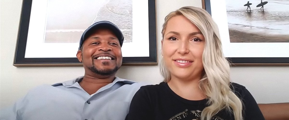 Reality TV Star Elena Gant  and her husband, Preston Grant during an interview | Photo: Youtube.com/Elena's Day