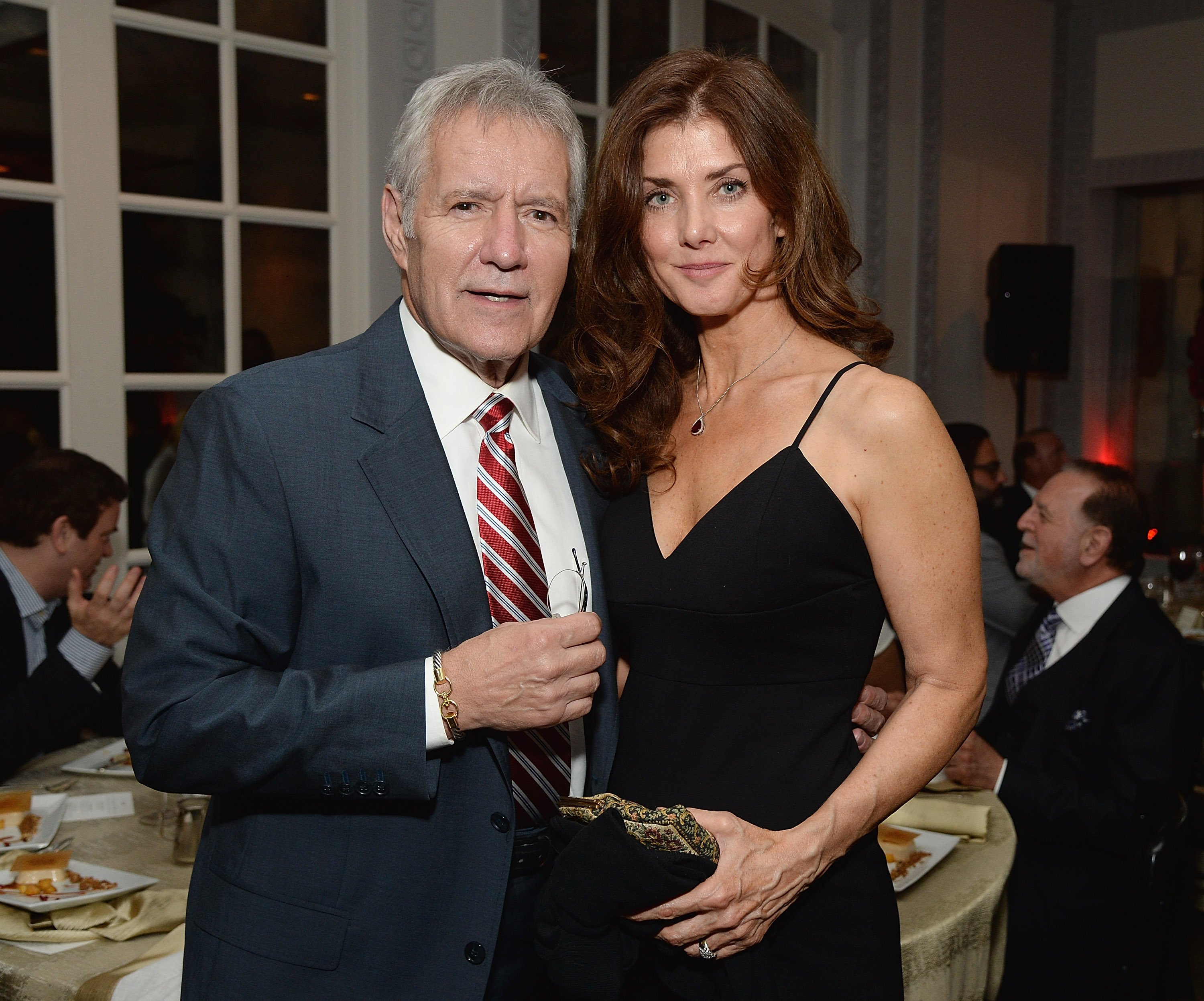 Trebek and his wife of 29 years, Jane Currivan. Image credit: Getty/Global Images Ukraine