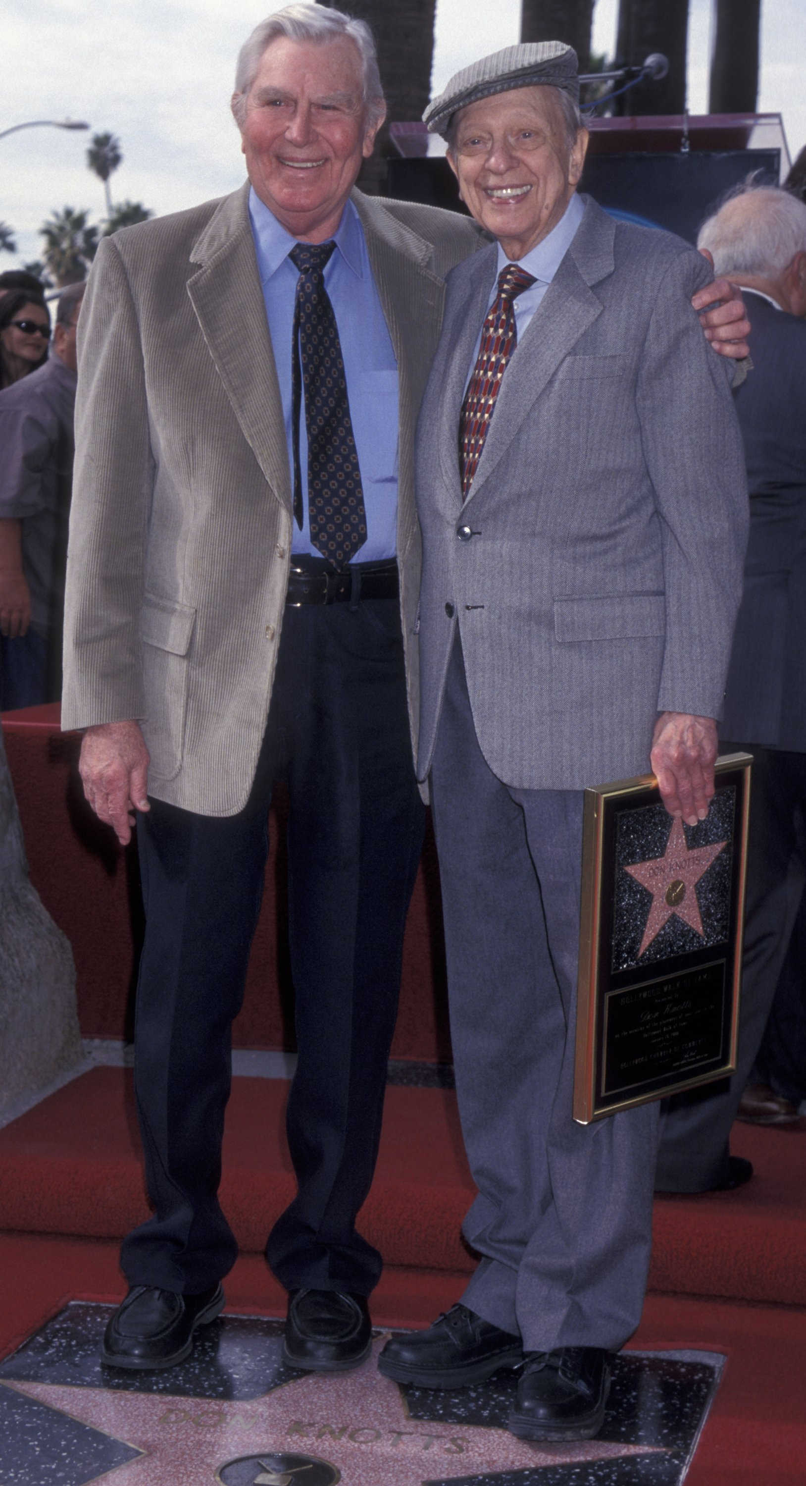 Andy Griffith attends his best friend Don Knotts event in the Hollywood Walk of Fame in 2000. | Photo: Getty Images