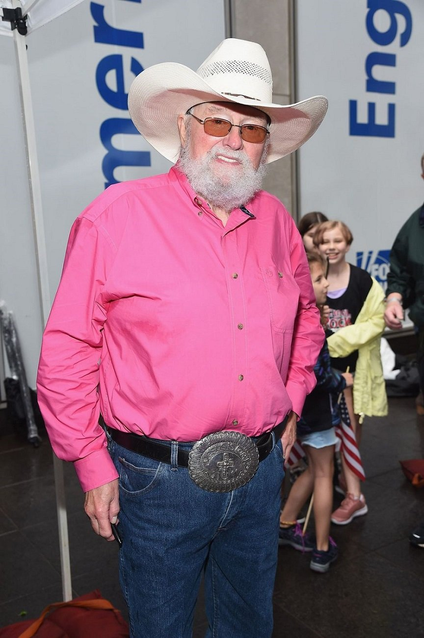 """Charlie Daniels after a performance wit The Charlie Daniels Band at""""FOX & Friends"""" All-American Summer Concert Series on June 21, 2019, in New York City 