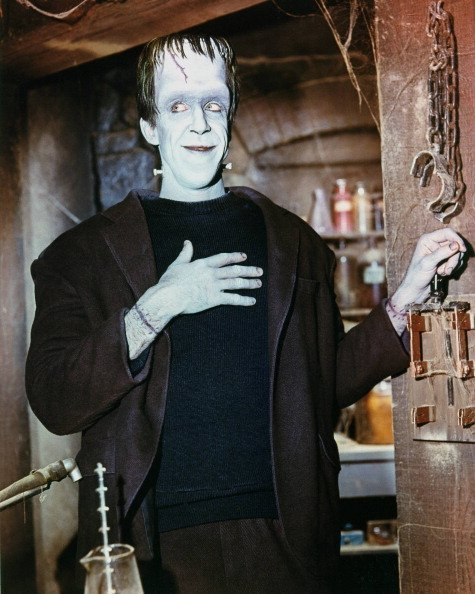 "Fred Gwynne (1926-1993) on ""The Munsters"" in 1965 