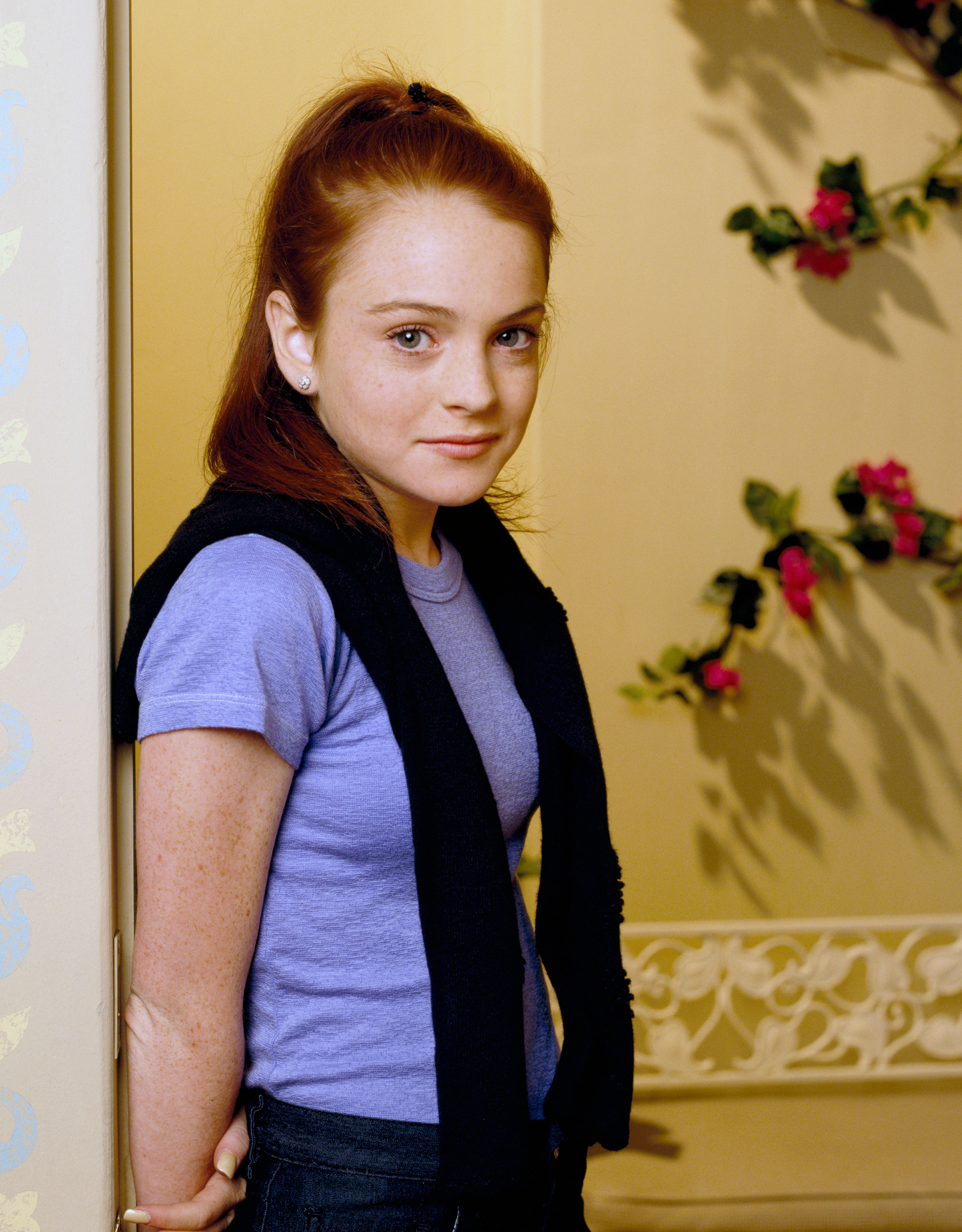 "Lindsay Lohan as Rose for the sitcom ""Bette,"" gallery session April 1, 2000. 