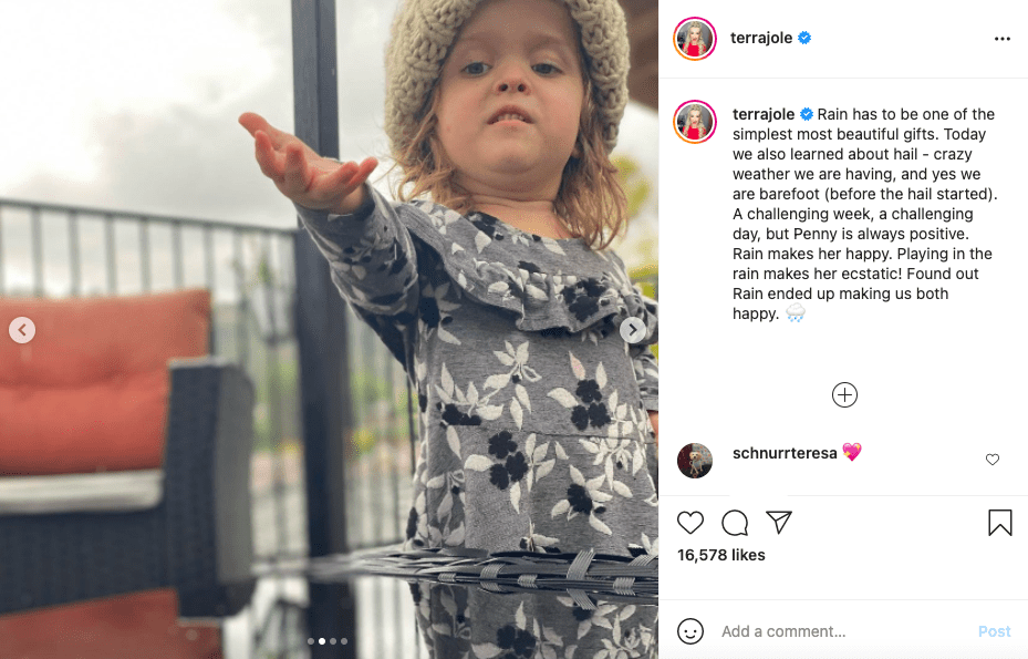 "Terra Jolé's 5-year-old daughter Penelope ""Penny"" Gnoffo as pictured on her mother's Instagram account in March 2021. 