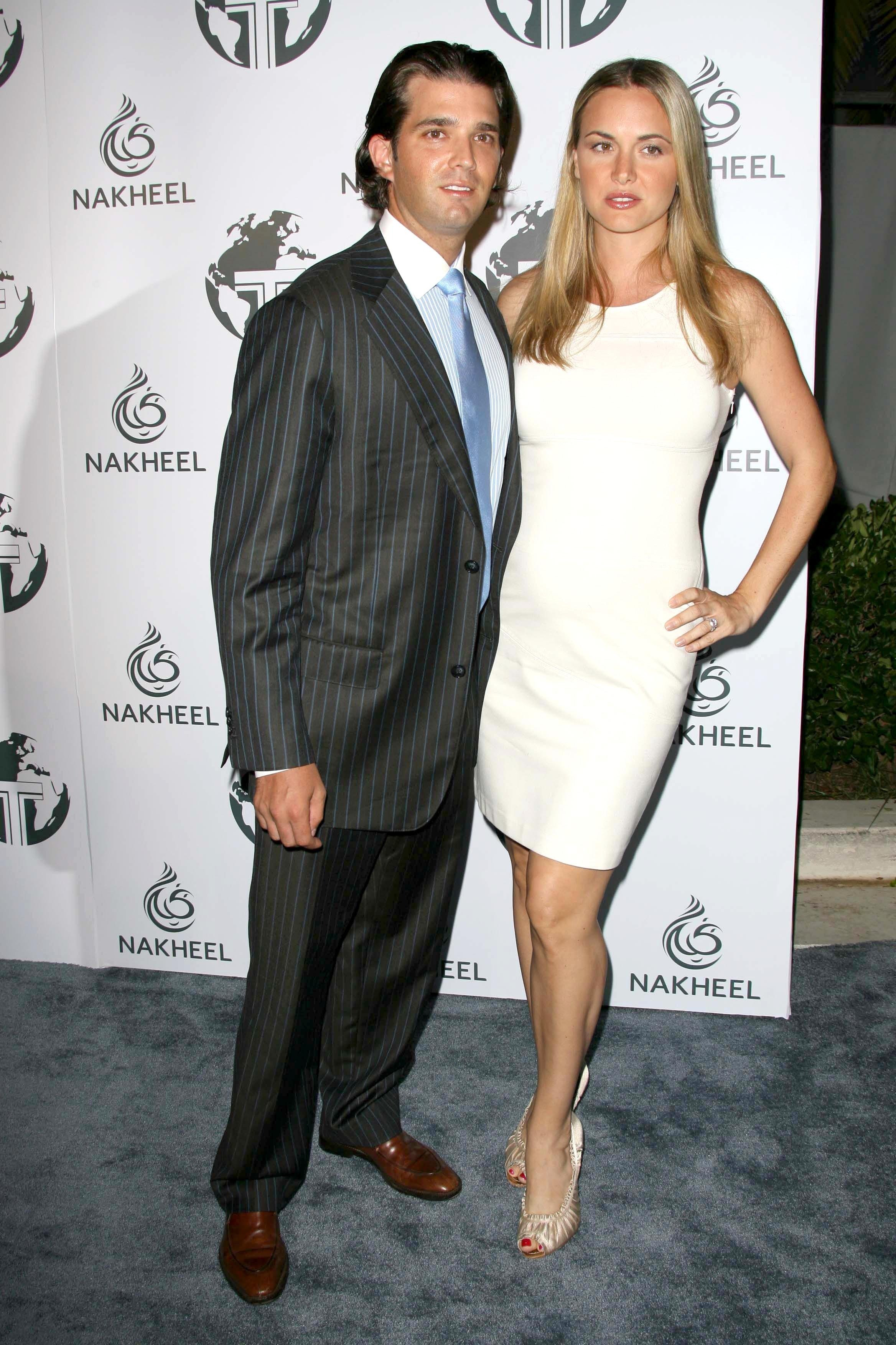 Donald Trump Jr. and Vanessa Haydon at a party to introduce the Trump Tower Dubai in 2008. Image credit: Shutterstock