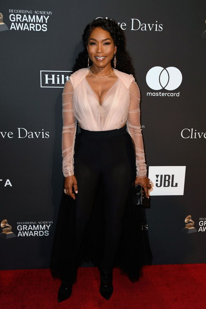 Angela Bassett at the  pre-Grammys party | Getty Images