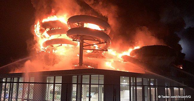 Belgique : des témoins montrent des photos impressionnantes d'un incendie de piscine causé par une explosion