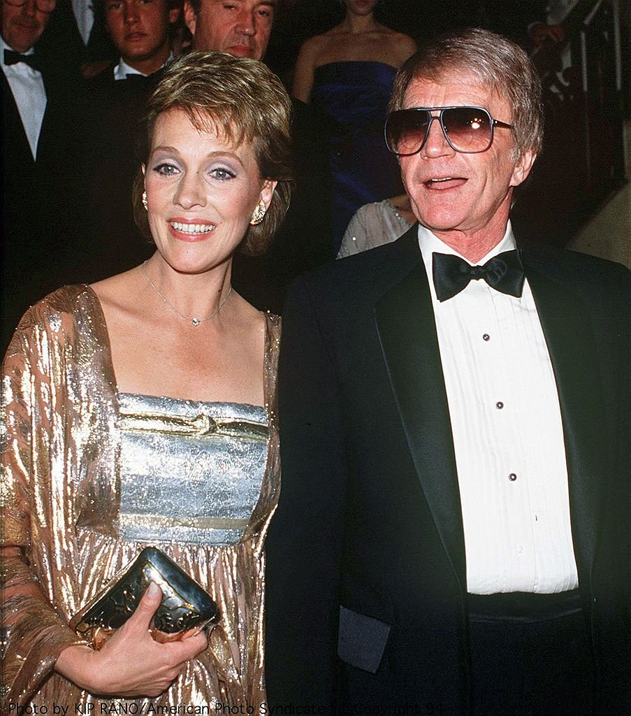 Julie Andrews and Blake Edwards at a British Olympic Association gala, 18th April 1984. | Source: Getty Images