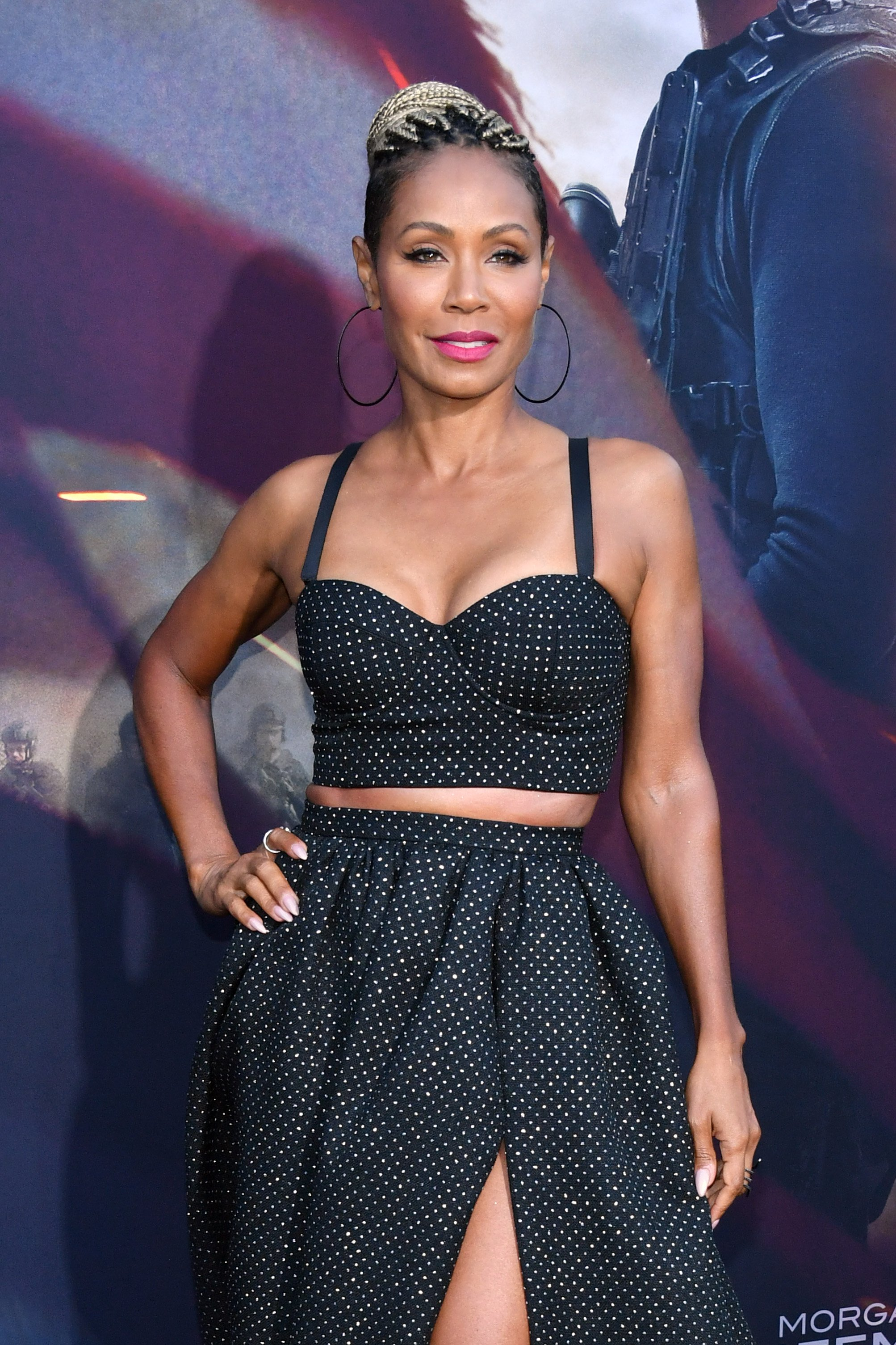 "Jada Pinkett Smith attends the LA Premiere of Lionsgate's ""Angel Has Fallen"" at Regency Village Theatre on August 20, 2019 