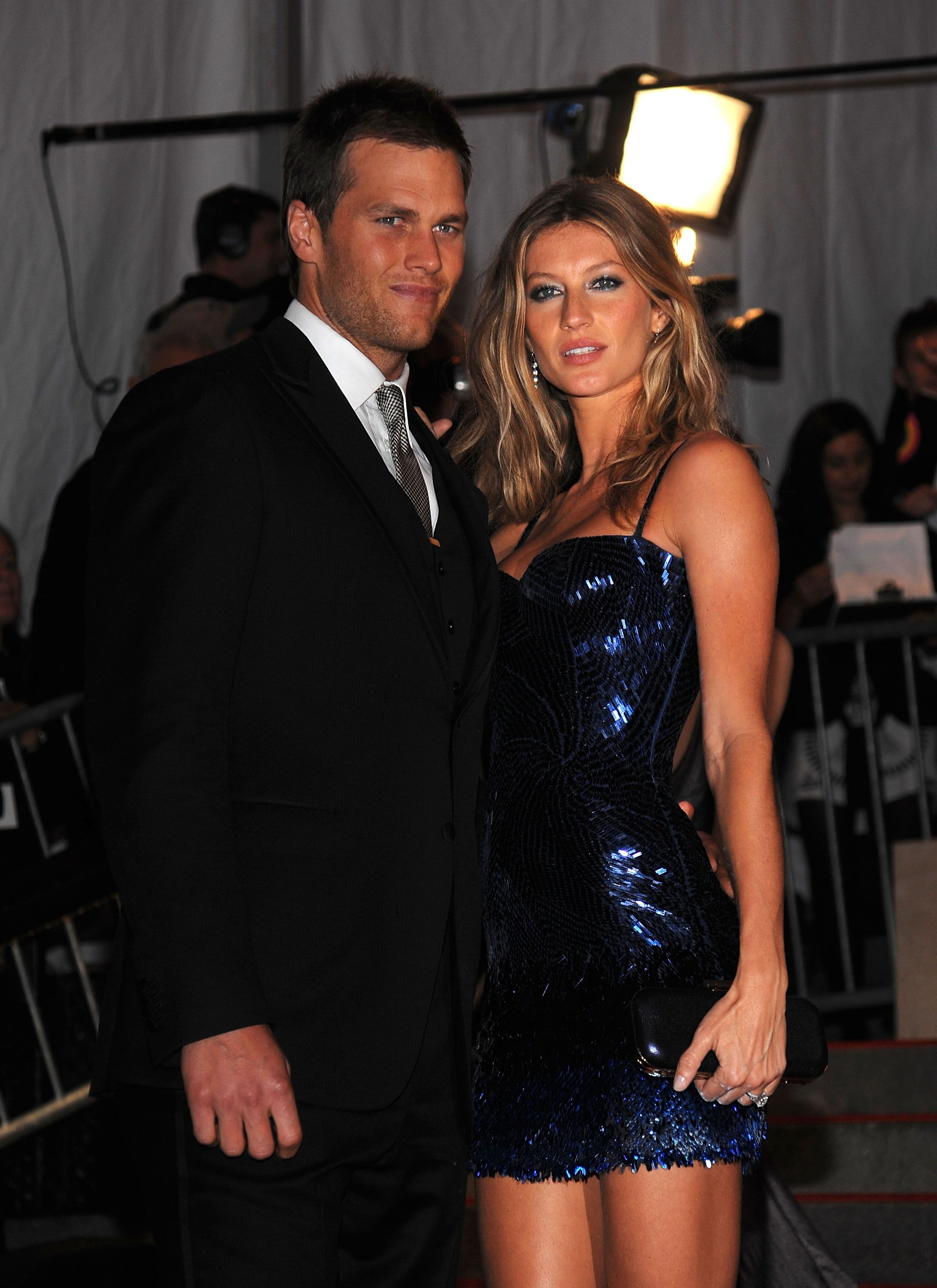 "Tom Brady and Gisele Bundchen at ""The Model as Muse: Embodying Fashion"" Costume Institute Gala at The Metropolitan Museum of Art in 2009 