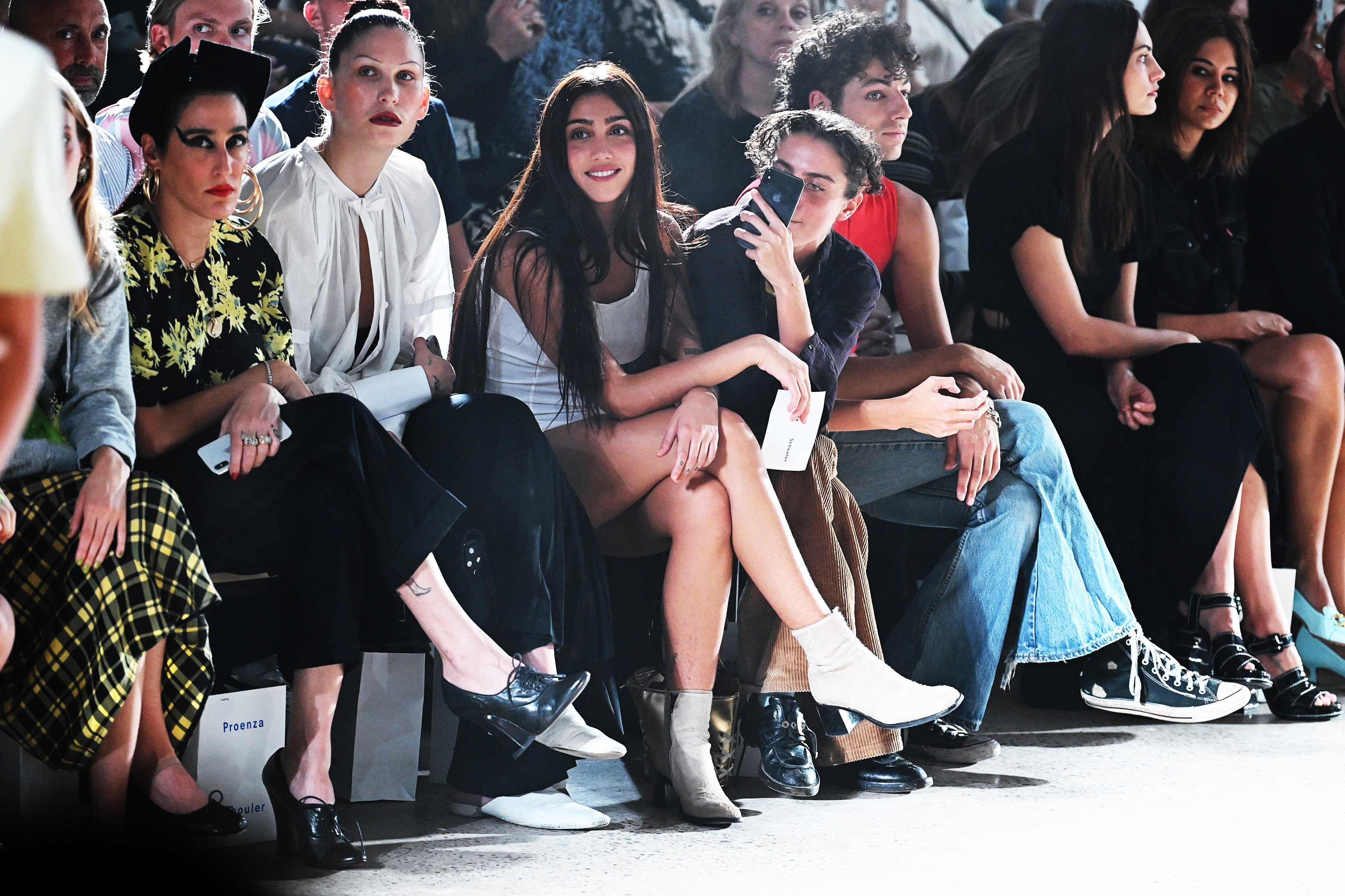 Lourdes Leon in the front row for Proenza Schouler during New York Fashion Week, September 10, 2019 | Source: Getty Images