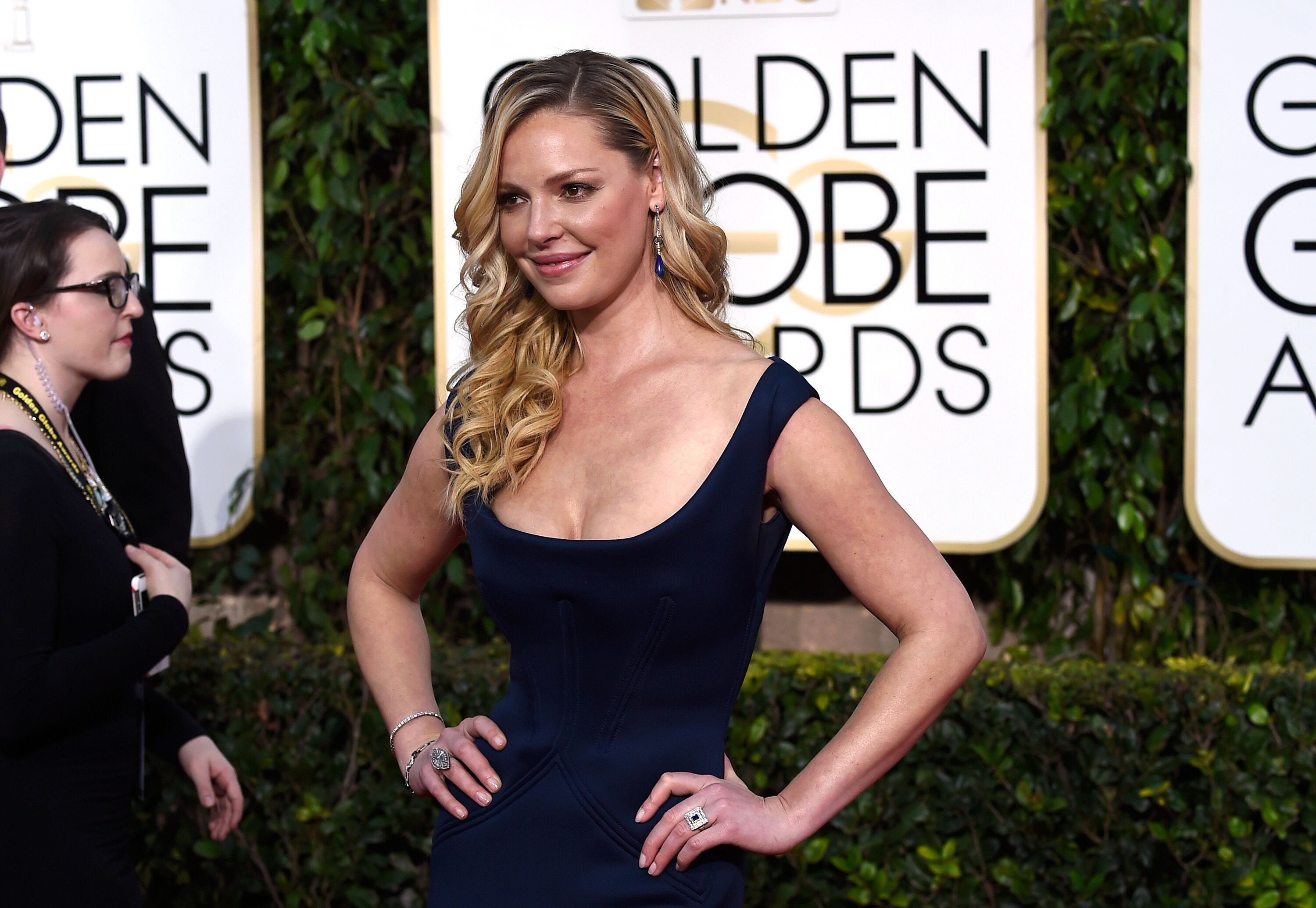 Katherine Heigl attends the 72nd Annual Golden Globe Awards. | Source: Getty Images
