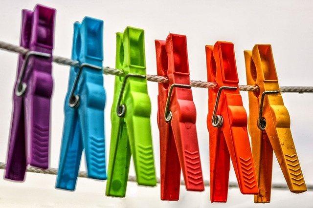 Pinzas de ropa. Fuente: Pixabay