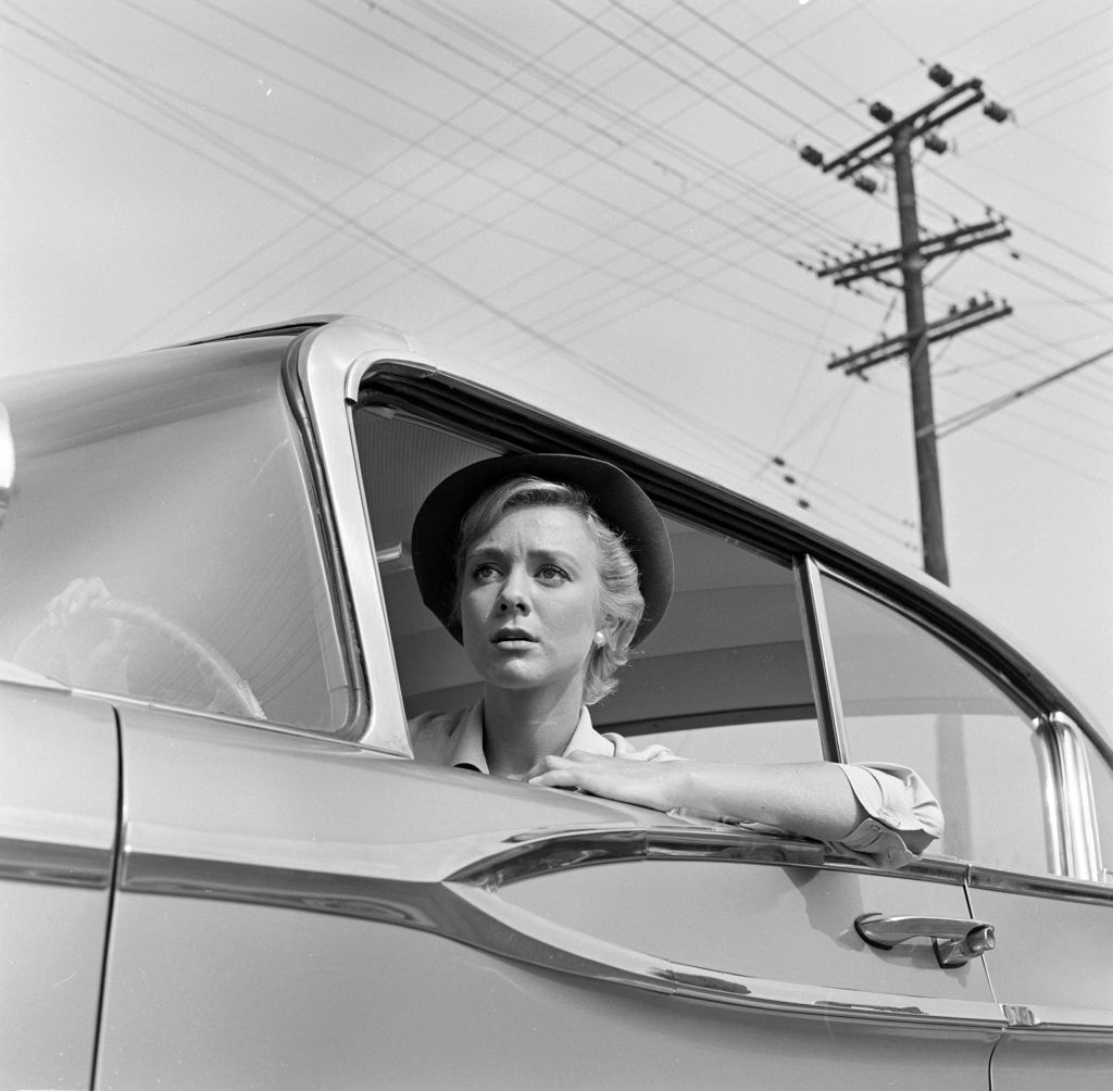 """Inger Stevens as Nan Adams in """"The Hitch-hiker,"""" circa 1959. 