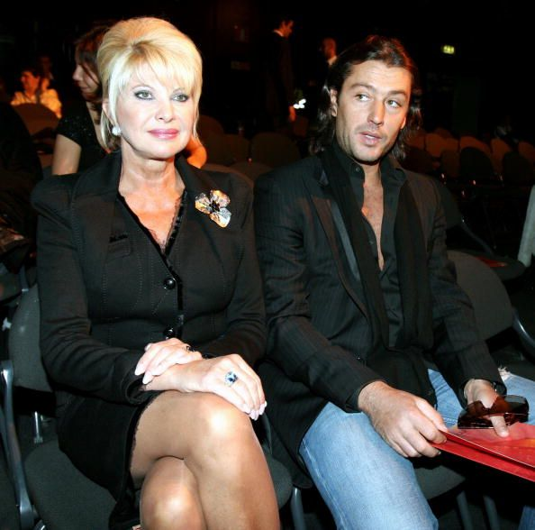 Ivana Trump and Rossano Rubicondi attend the Gai Mattiolo show on the eighth day of Milan Fashion Week (Milano Moda Donna) ready-to-wear womenswear collections Autumn/Winter 2006/7 at Milano Fiera on February 25, 2006 in Milan, Italy. | Source: Getty Images