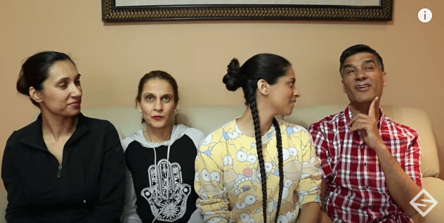 Lilly Singh's family during an interview with the famous YouTuber. | Source: YouTube.com/LillySingh