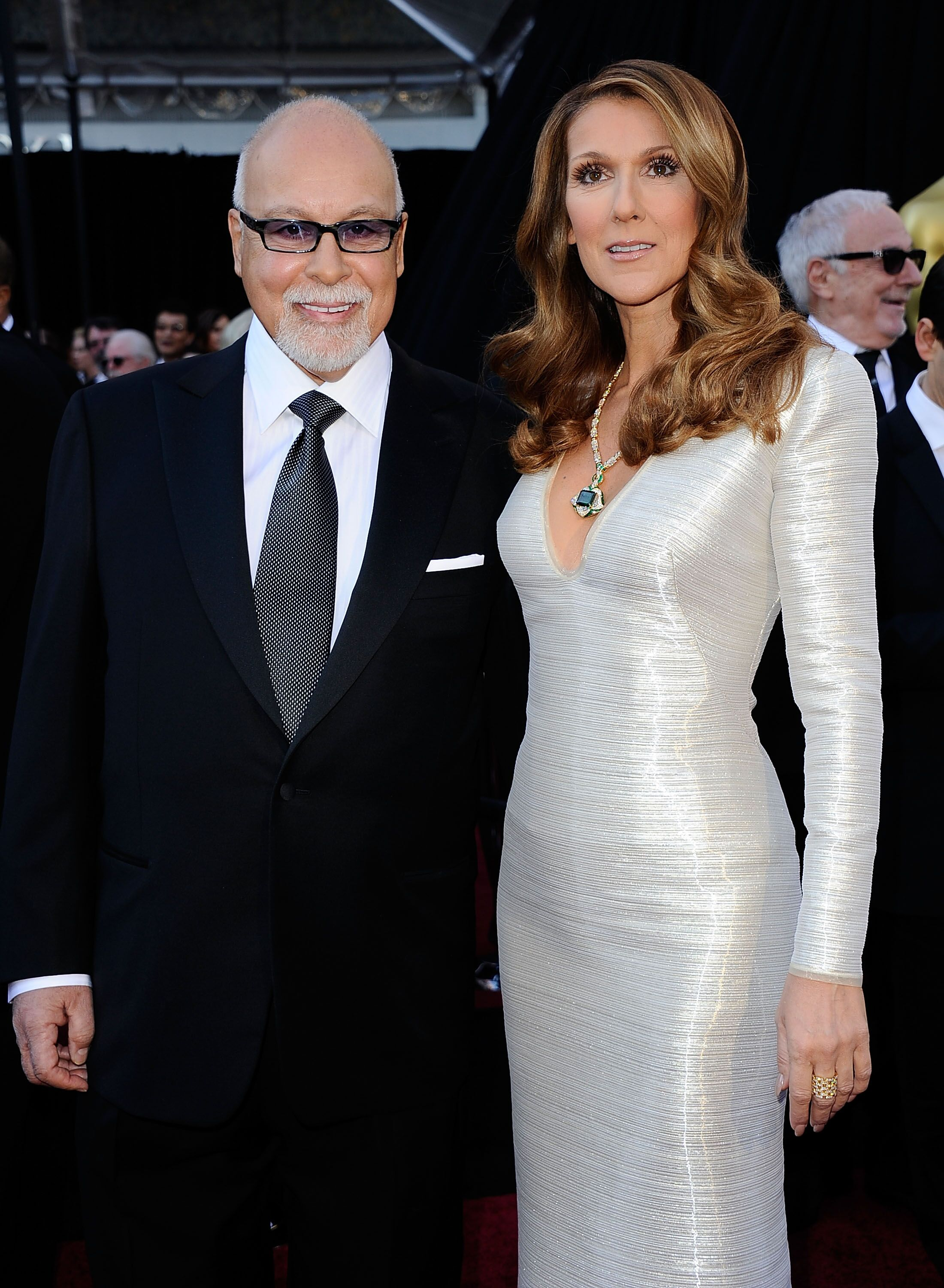 Rene Angelil and Celine Dion at the 83rd Annual Academy Awards in 2011 in Hollywood | Source: Getty Images