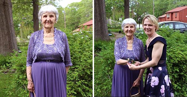 """Une femme de 97 ans nommée """"reine honoraire du bal"""" après avoir assisté pour la première fois"""