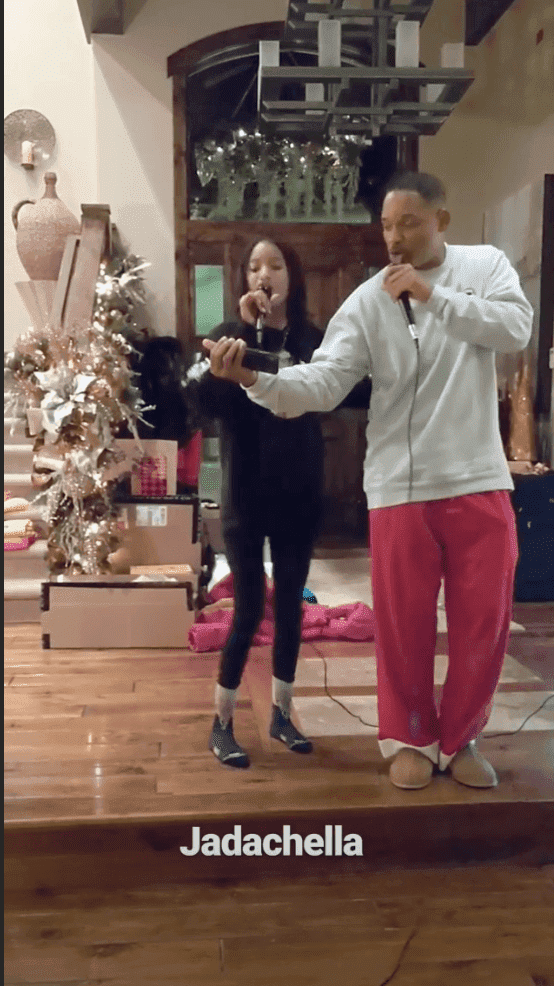 Will Smith and daughter Jaden performing a song | Photo: Instagram/Jada Pinkett-Smith/stories