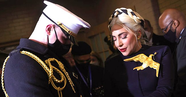 Here's the Story of Marine Who Helped Lady Gaga to the Podium during Presidential Inauguration