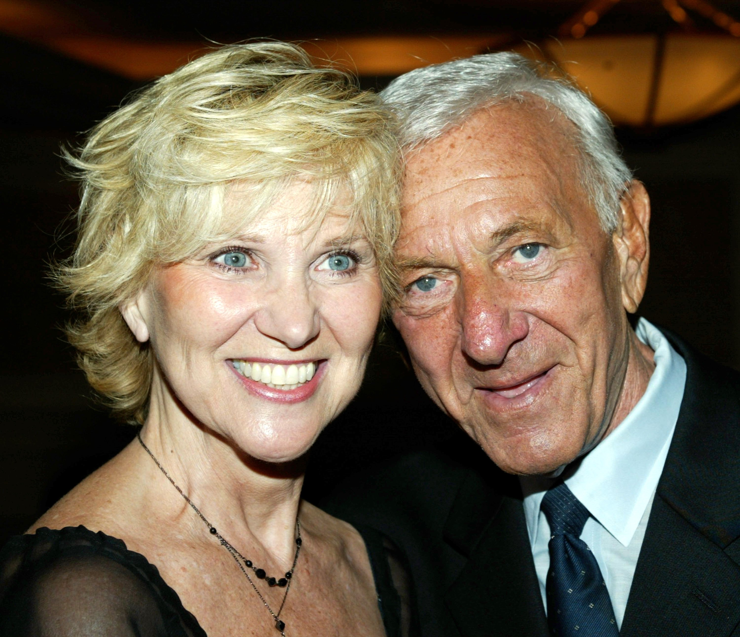 Peggy Crosby and Jack Klugman attend the Pacific Broadcaster's event honoring Klugman. | Source: Getty Images