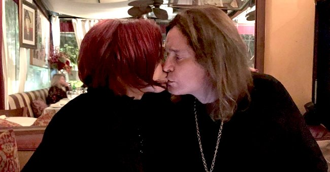 Sharon Osbourne Kisses Husband Ozzy in New Pic One Month after Alleged Ex-Mistress Michelle Pugh Discussed Her Life