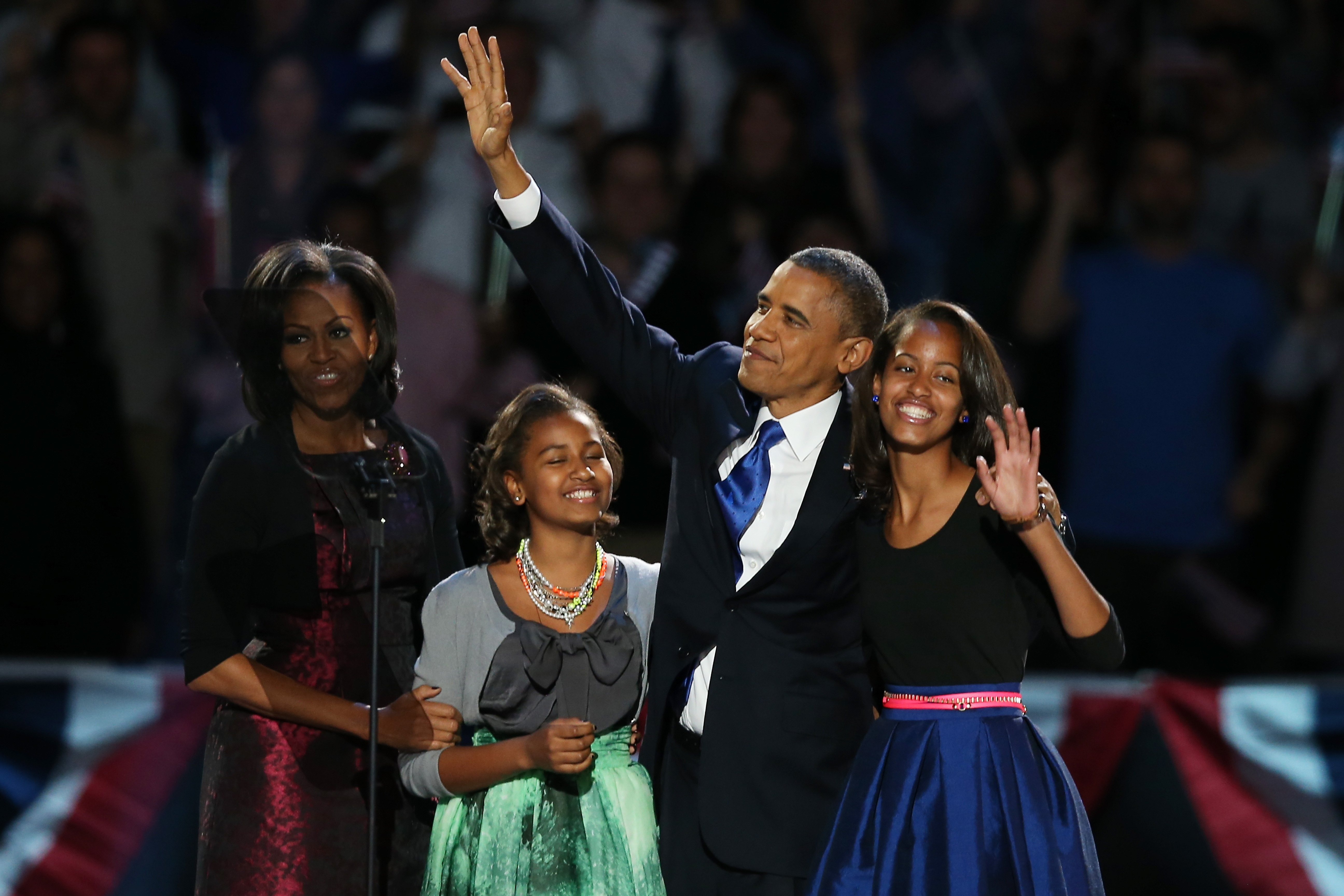 The Obamas.   Source: Getty Images