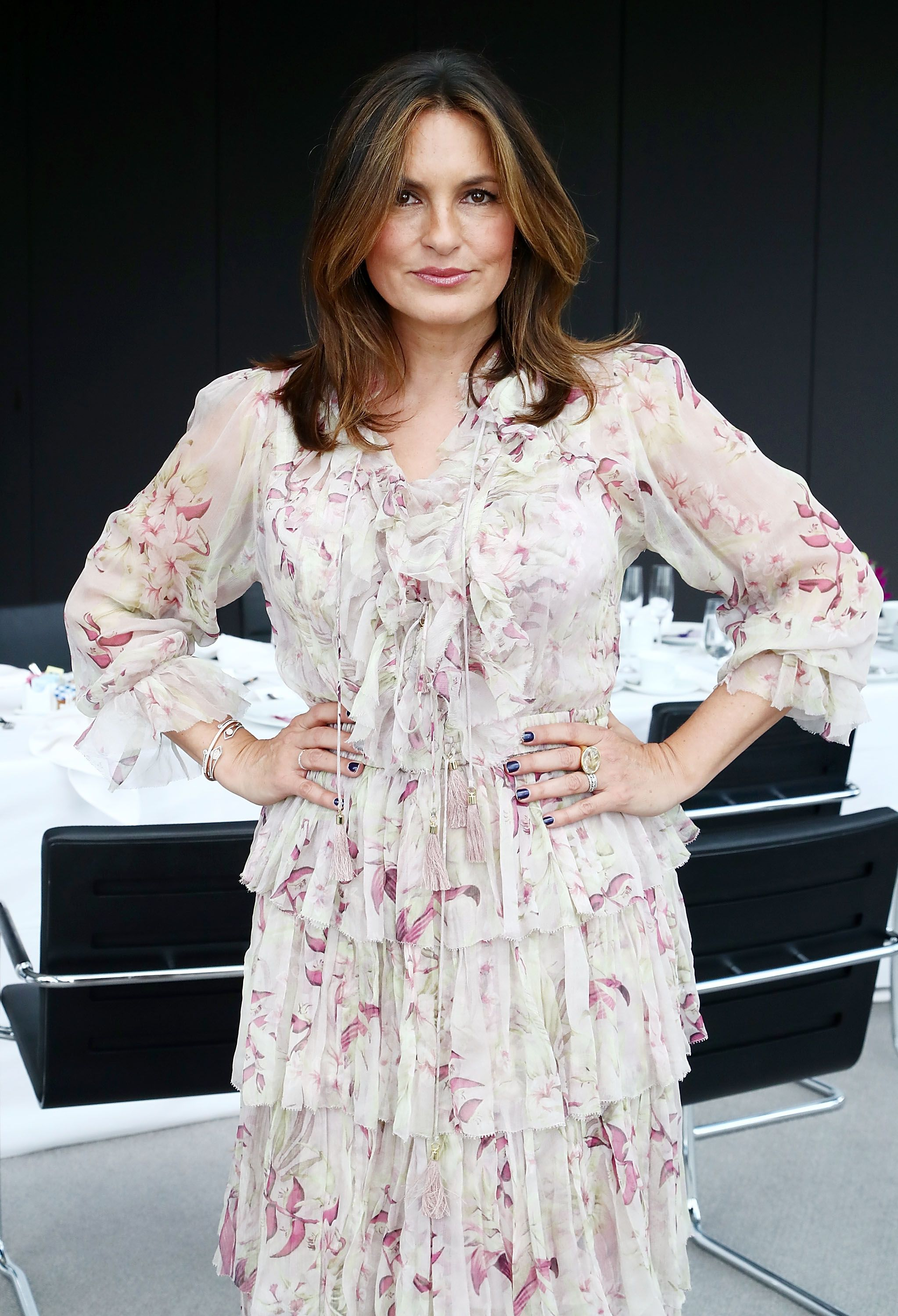 Actress Mariska Hargitay attends a luncheon hosted by Marie Claire honoring Sheila Nevins, president of HBO documentary films at Hearst Tower  | Getty Images