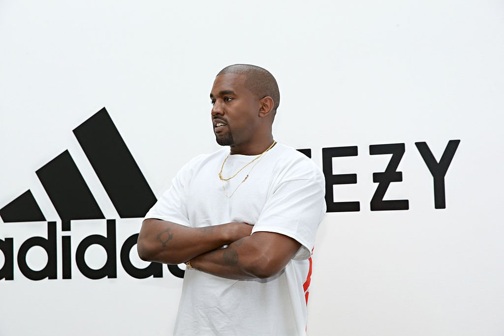 Kanye West at Milk Studios announcing the future of his partnership with Adidas, June 2016 | Source: Getty Images