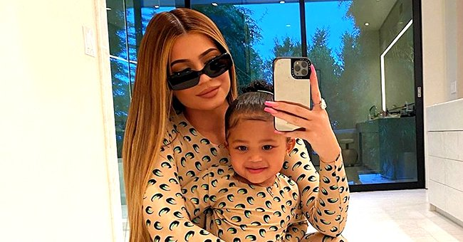Kylie Jenner's Daughter Stormi Enjoys Swimming in a Blue Swimsuit
