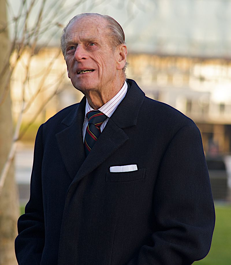 Prince Philip, Duke of Edinburgh, husband of Queen Elizabeth II of the United Kingdom, looking at City Hall in London. | Source: WikiMedia Commons