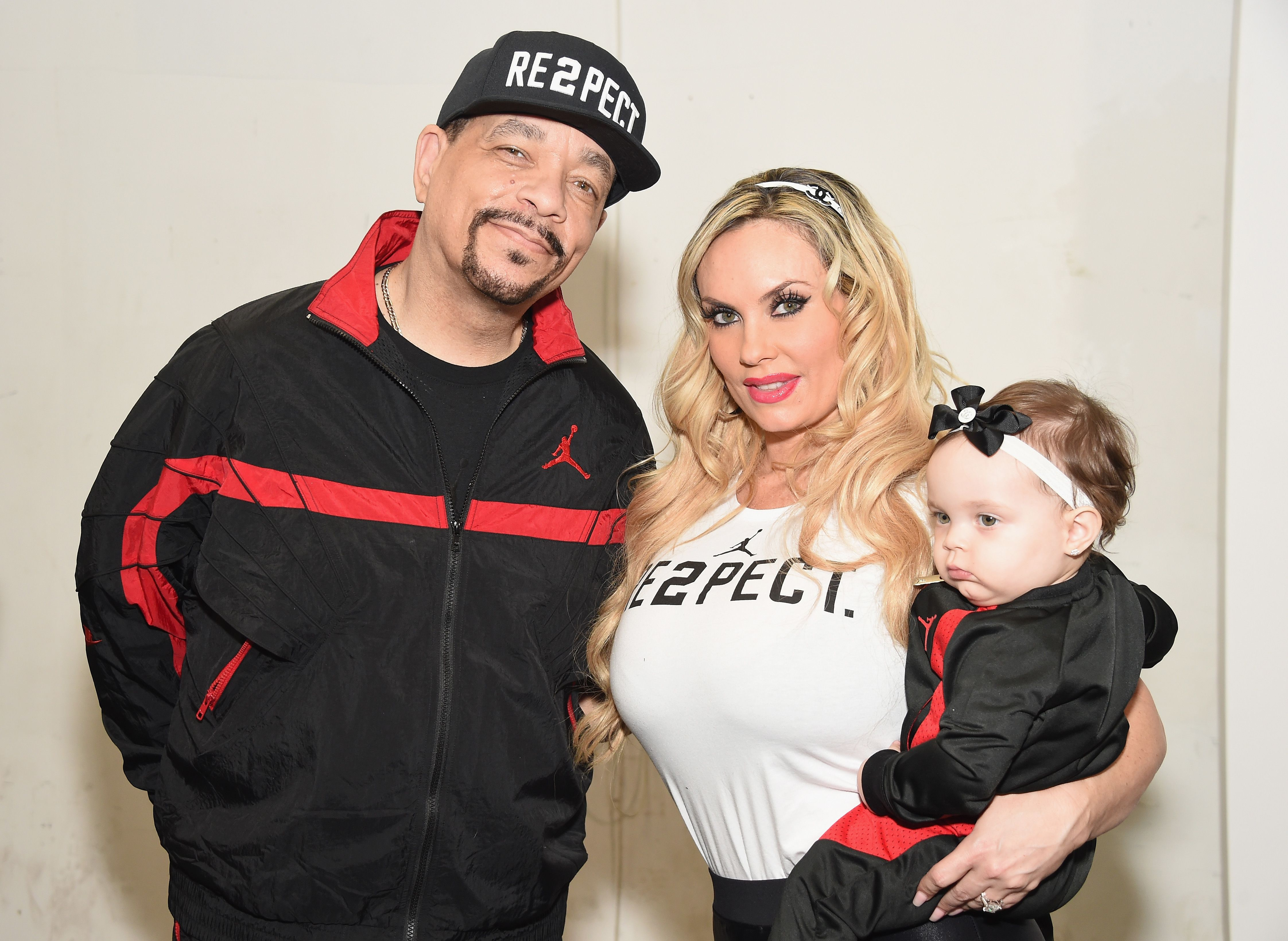Ice-T, Coco Austin and Chanel at the Rookie USA fashion show in New York on February 15, 2017.   Photo: Getty Images