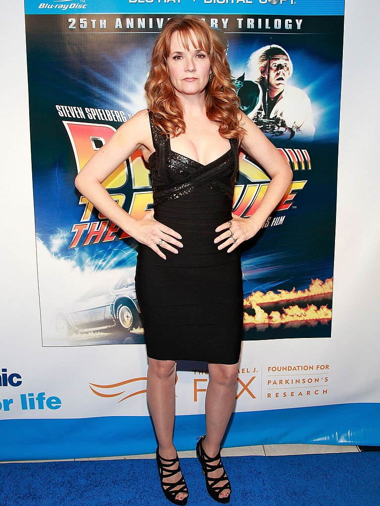 """Actress Lea Thompson attends the """"Back To The Future"""" 25th anniversary Trilogy Blu-Ray release celebration at Gustavino's on October 25, 2010 
