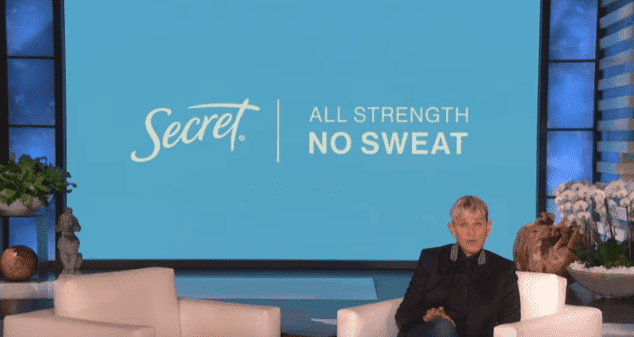 Ellen DeGeneres shared the first look at Secret's new 2020 Super Bowl ad spotlighting gender equality in sport. | Source: YouTube/TheEllenShow.
