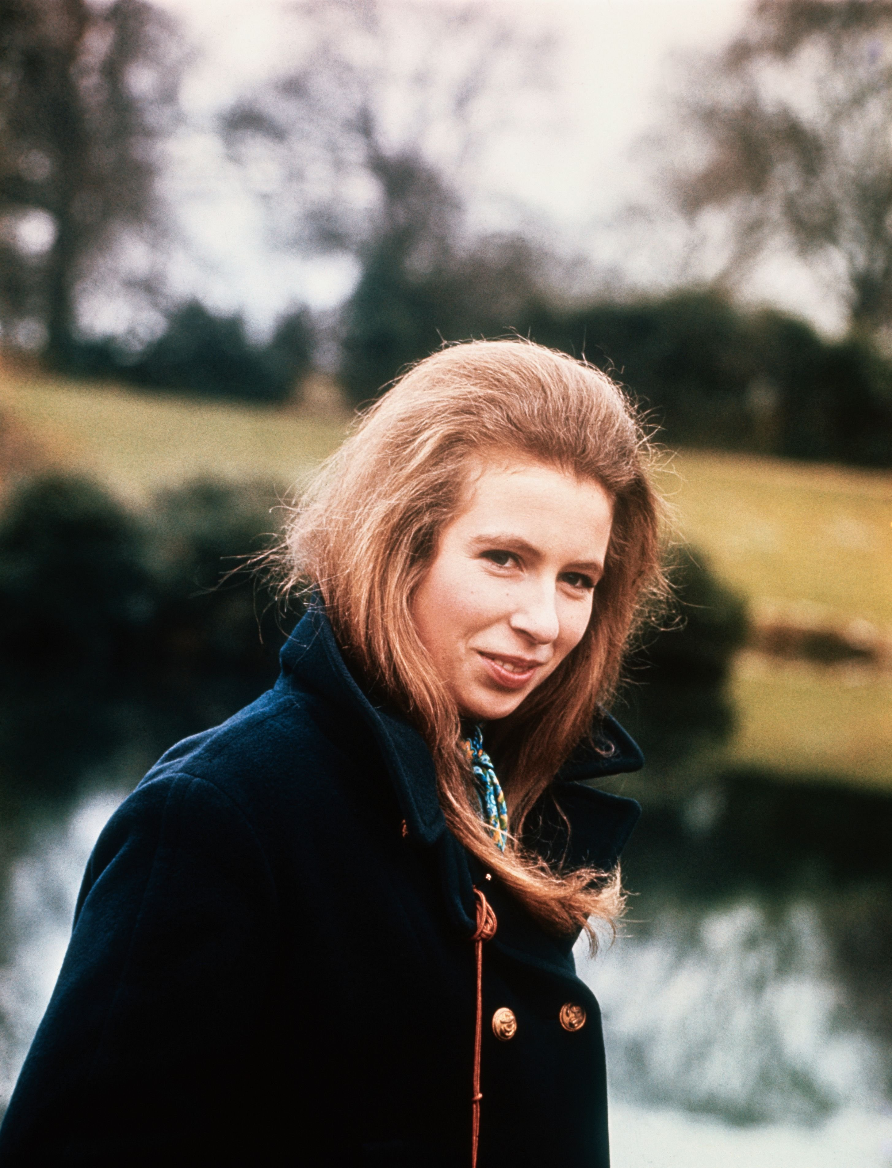 Princess Anne, 19, walking the grounds of Sandringham, the Royal Family's country residence. | Source: Getty Images