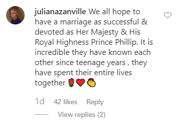 A fans' comment from Kensington Palace's post. | Photo: instagram.com/kensingtonroyal
