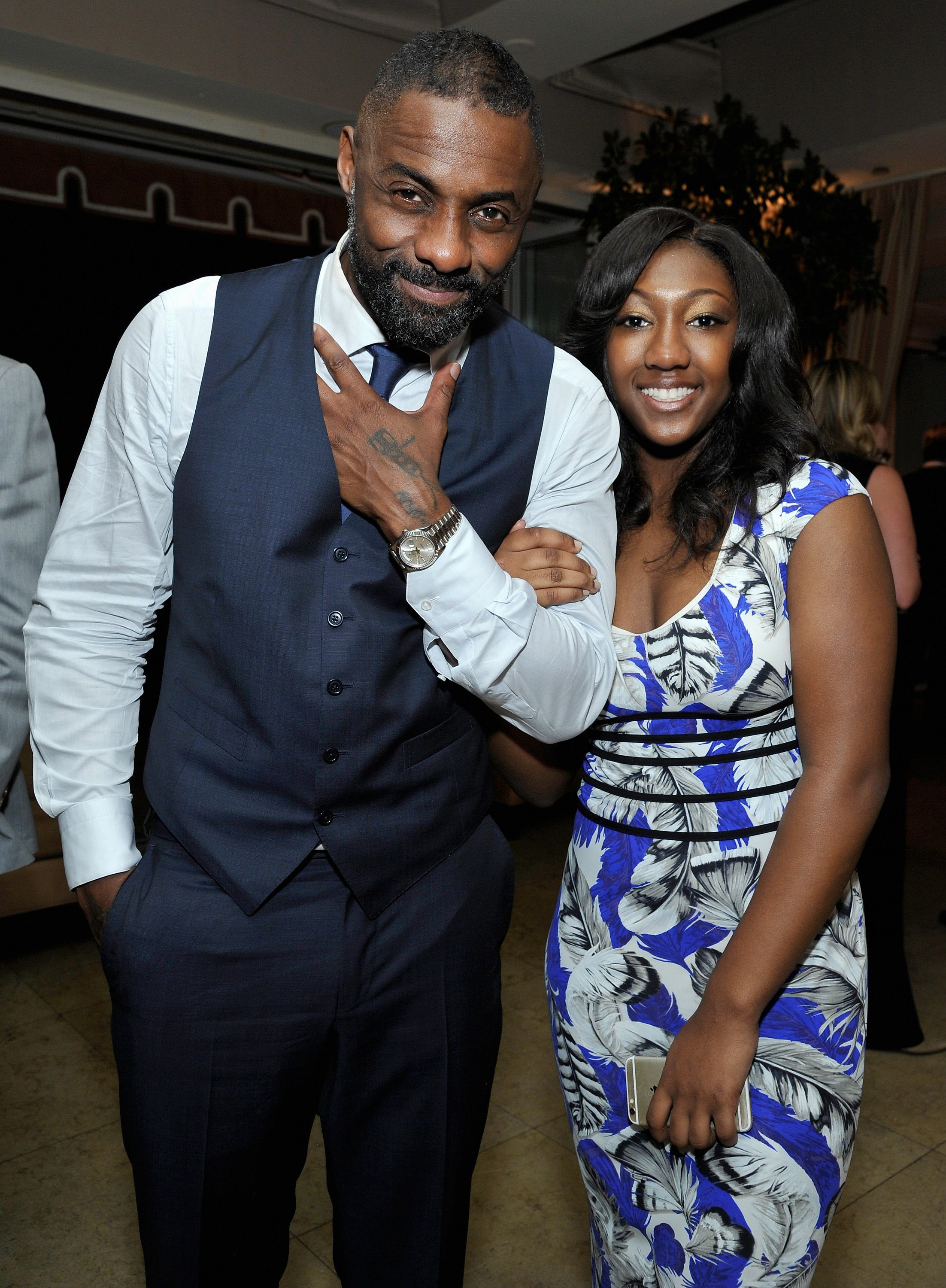 Actor Idris Elba and daughter Isan Elba attend the Weinstein Company & Netflix's 2016 SAG after-party hosted by Absolut Elyx at Sunset Tower on January 30, 2016 | Photo: Getty Images