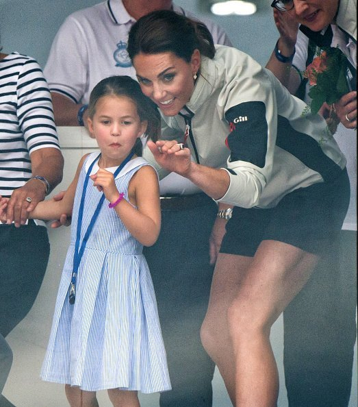 Princess Charlotte and Catherine, attend the presentation following the King's Cup Regatta | Image: Getty Images